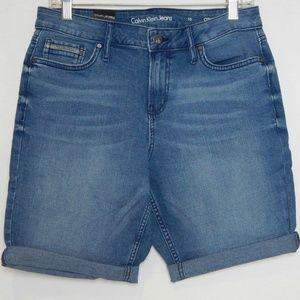 Calvin Klein Womens Size 10 Shorts Jean City Short